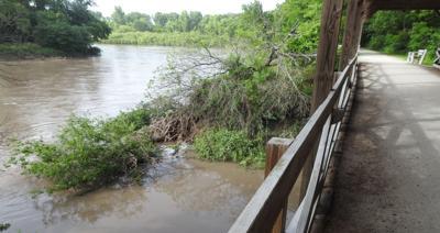 River bank erosion