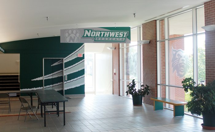 What Was Once Unidentifiable As Northwest Now Matches The Rebranding Athletic Department Logos Underwent Last Summer