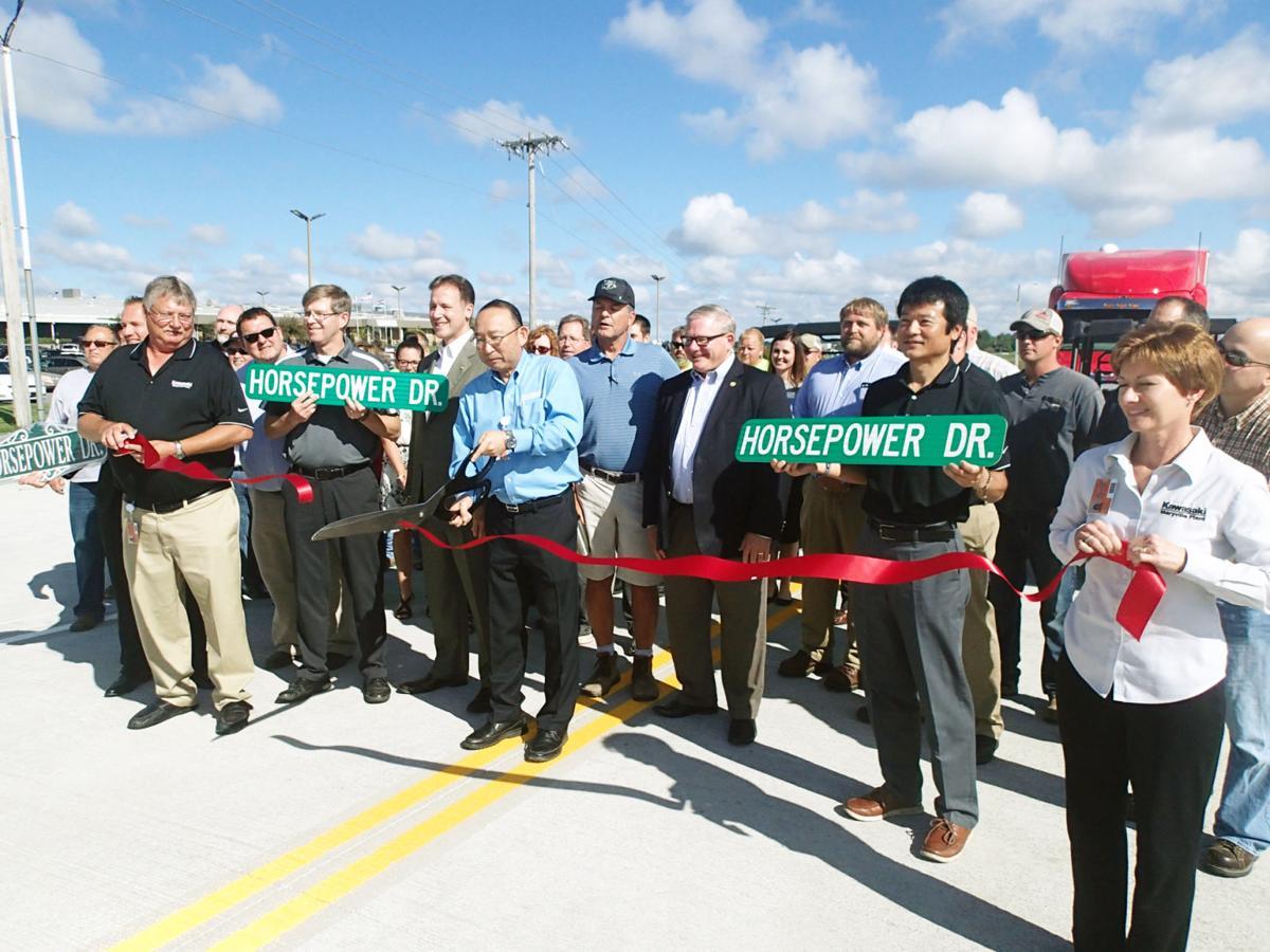 Traffic rolls on horsepower drive business maryville for Kawasaki motors maryville mo