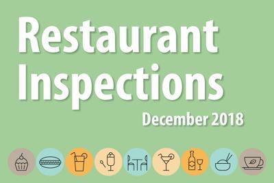 Restaurant Inspections: December 2018