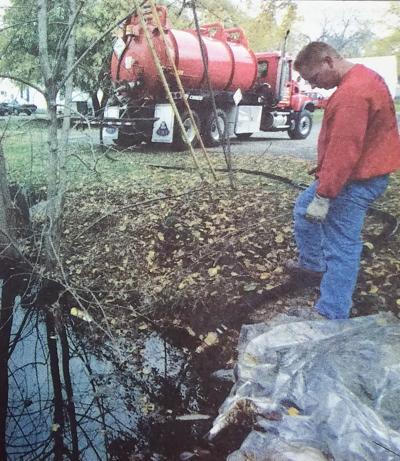 Oil spill in Peach Creek