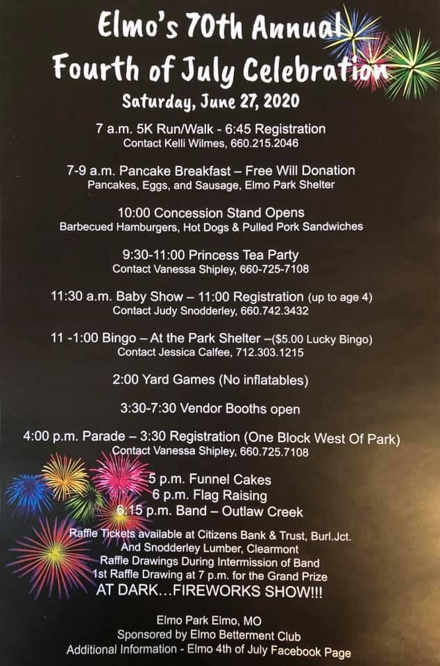 Elmo 70th annual Fourth of July Celebration