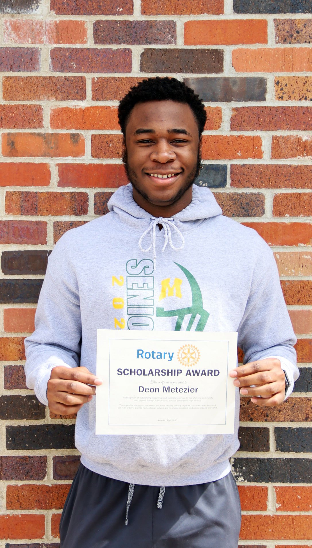 5-14-20 Rotary Students of the Month Deon Metezier.jpg