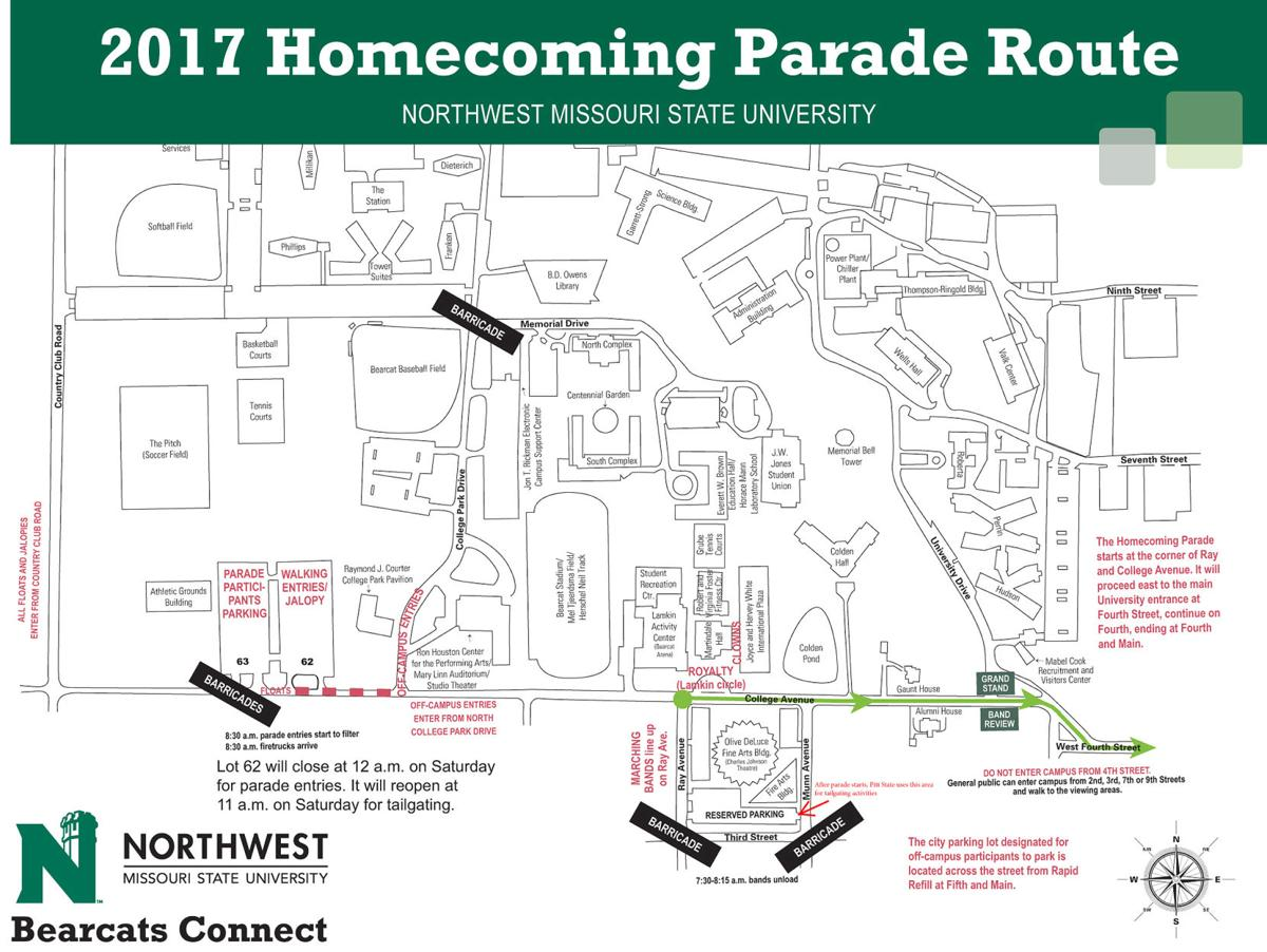 Northwest Missouri Map.Northwest Goes Global For Homecoming 2017 News Maryville Daily Forum
