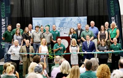 NW Ag Center group ribbon cutting