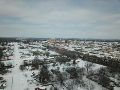 McAlester snow drone