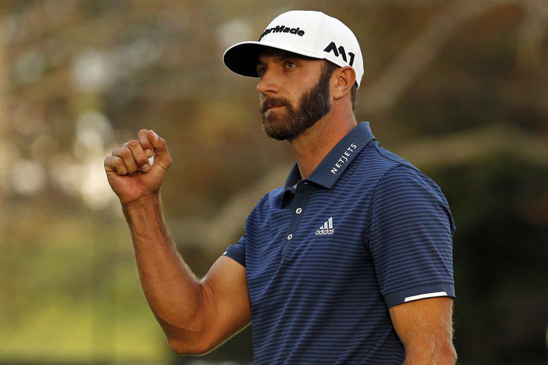PGA Northern Trust: Dustin Johnson bombs lake drive, beats Jordan Spieth
