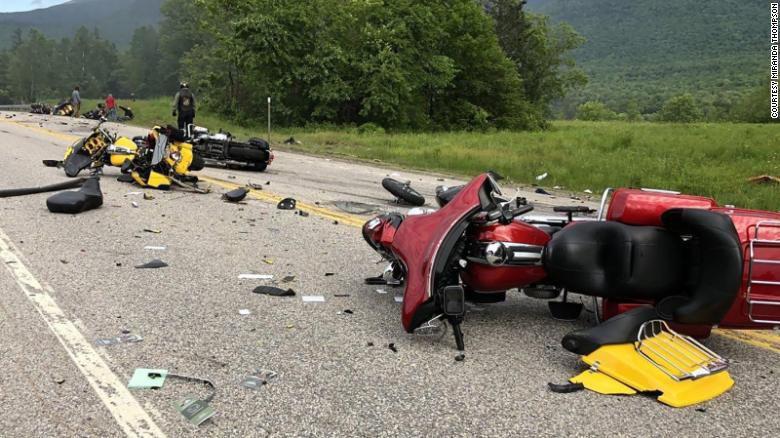 Scene of deadly N.H. motorcycles-truck crash