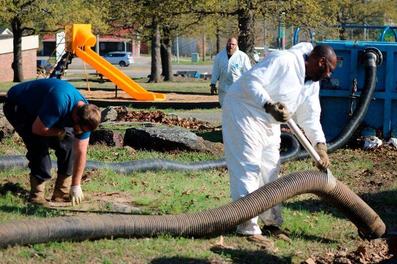 Hydroexcavation at McAlester park a major milestone in restoration efforts
