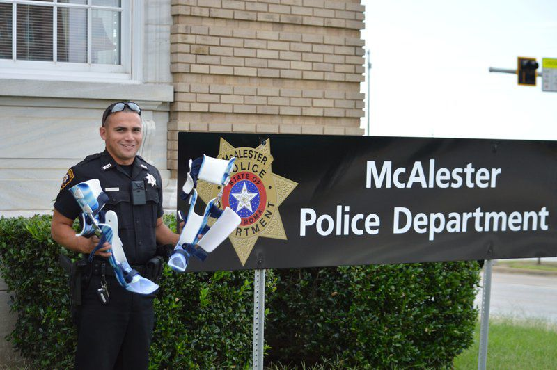 McAlester police recover girl's leg braces