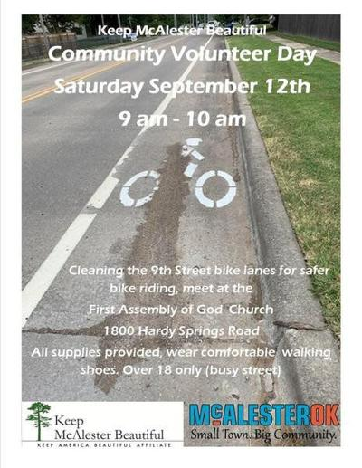 5 THINGS TO KNOW: Keep McAlester Beautiful's Bike Lane Cleanup