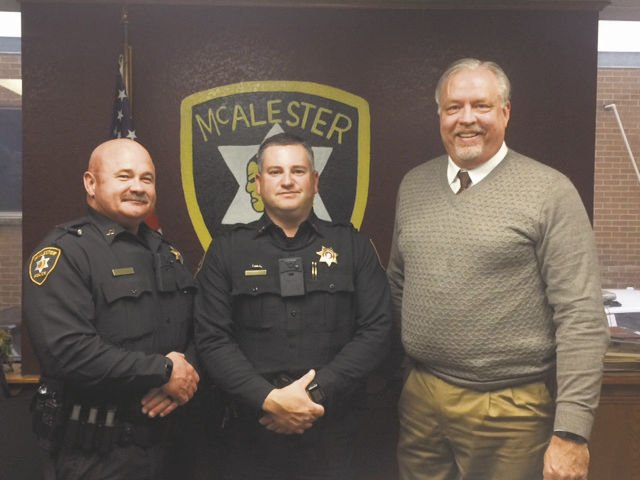 MPD promotes three officers | News | mcalesternews.com