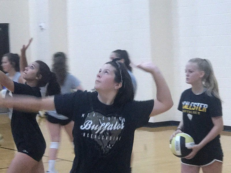 McAlester volleyball excited after first practice