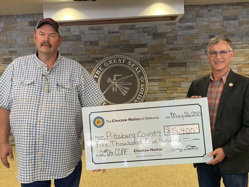 Choctaw Nation gives to McAlester and Pittsburg County