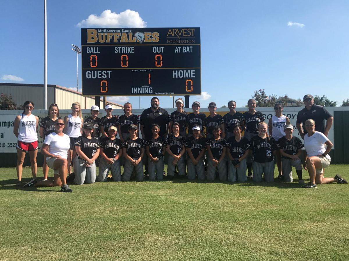 PHOTO GALLERY: New Arvest Foundation McAlester softball scoreboard