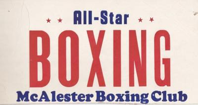 Boxing tournament poster