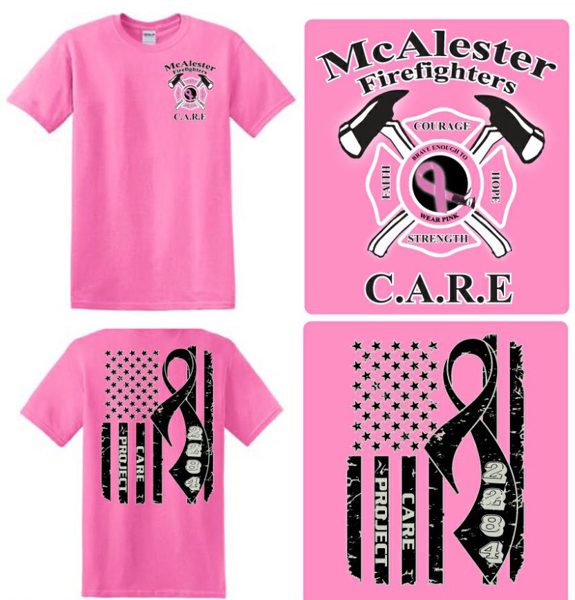 County Sheriff Mcalester Fd To Sell Shirts For Breast Cancer