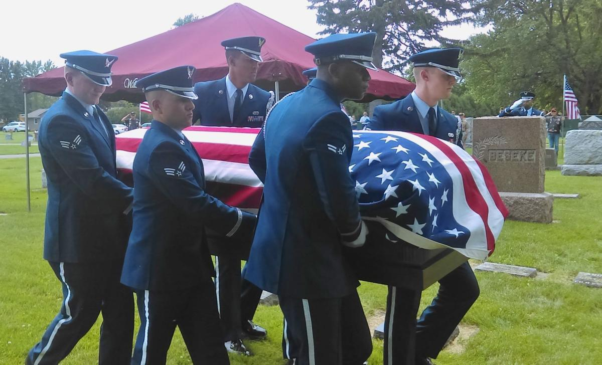 Remains of airman killed in 1952 crash laid to rest