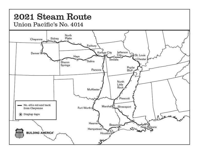 World's largest steam locomotive to trek through McAlester