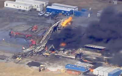 Drilling Rig Explosion Oklahoma