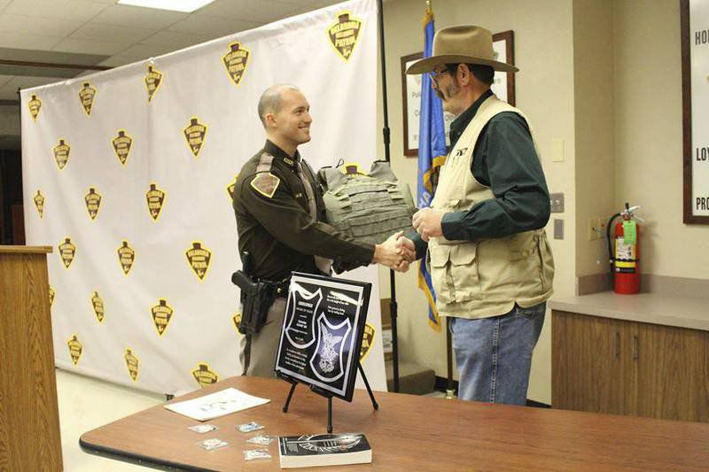 Trooper receives new bulletproof vest