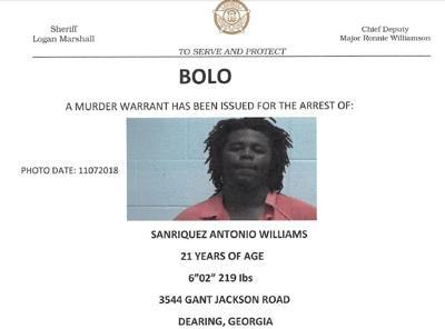 Murder suspect BOLO