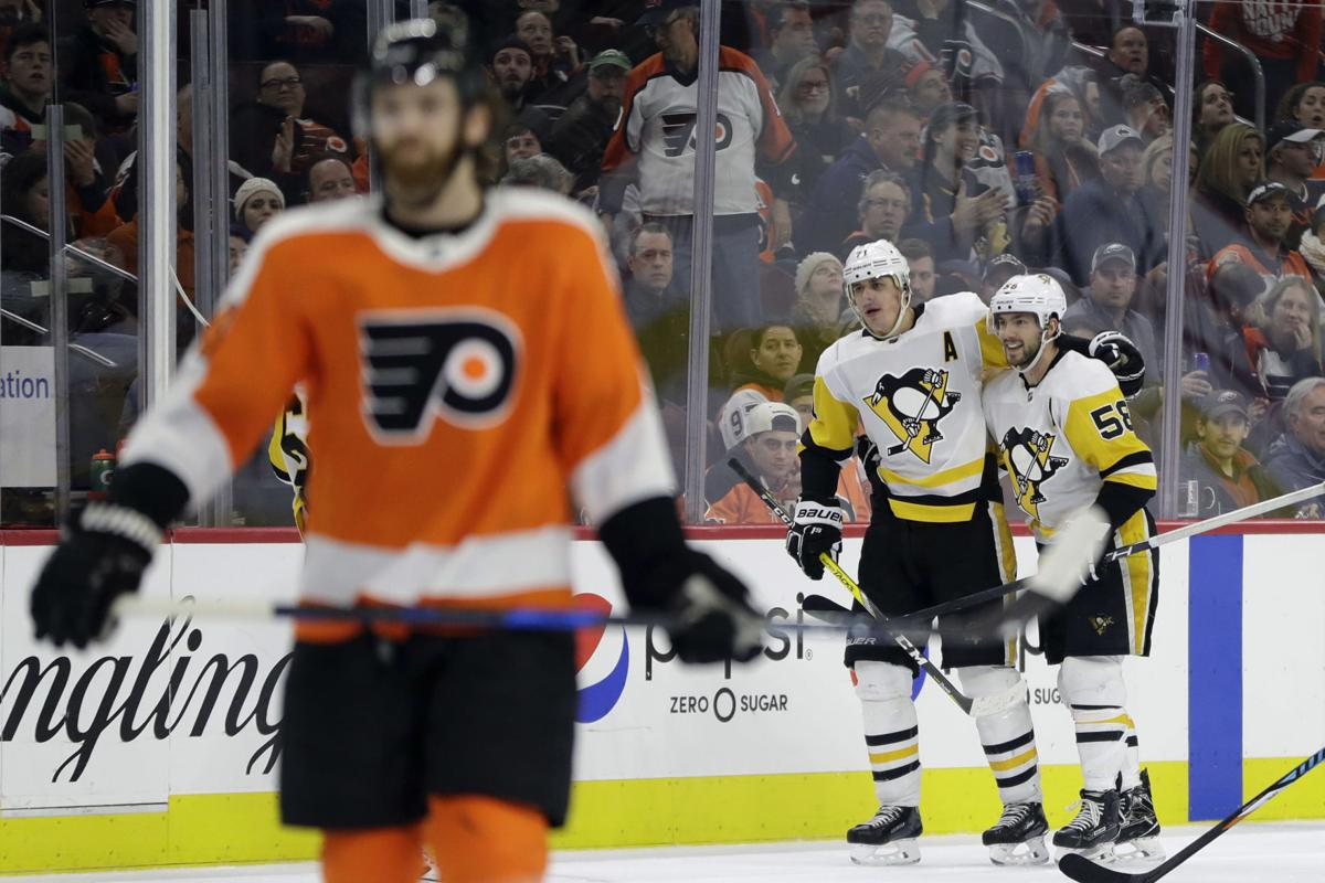 Pens move into first place in division with win over Flyers | Sports ...