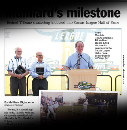 Former Tribuner Mailliard inducted into Cactus League Hall