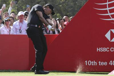 GOLF: Mickelson's streak of 26 years in the top 50 comes to an end