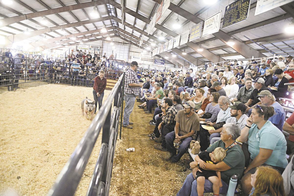 Livestock Auction crowd