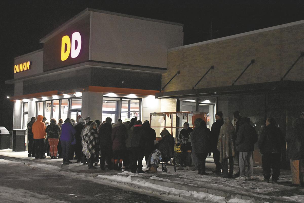 Line outside Dunkin'