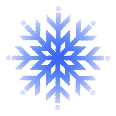 Snow icon stock