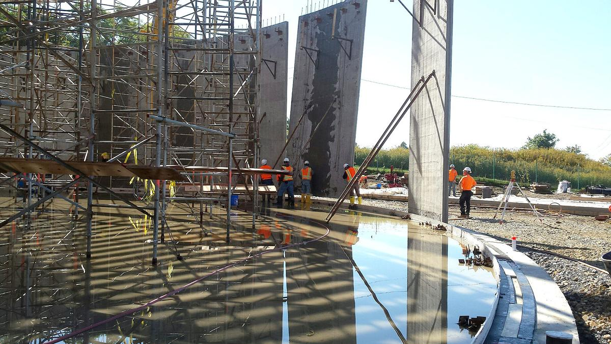 Water tank wall sections