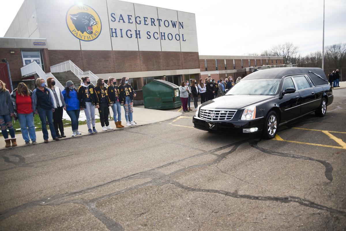 Saegertown coach Steve Scott's funeral procession