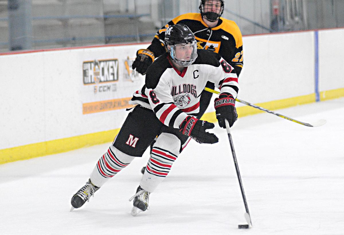 H S Hockey Frantz Scores Twice In Eight Seconds To Break Scoring