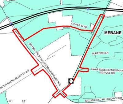 Mebane hosts online meeting regarding potential future extension of Lowe's Boulevard