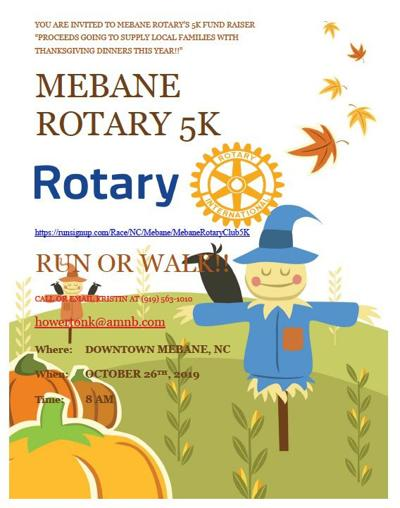 5K run in downtown Mebane October 26