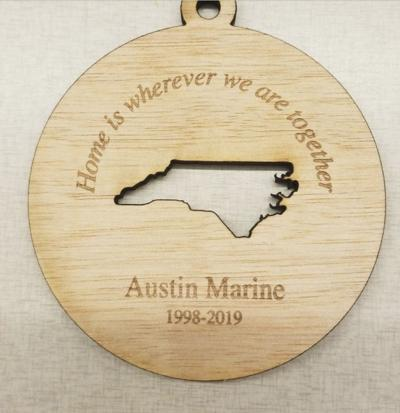 Austin Marine's memory preserved with Christmas ornaments