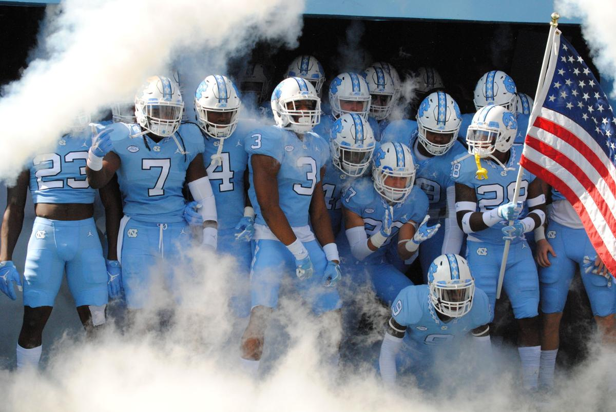 Tar Heels gather in the tunnel