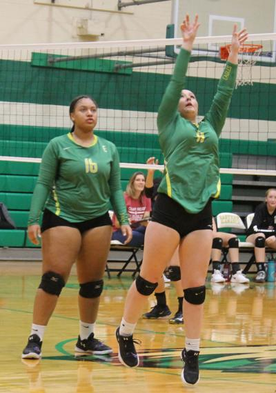 Eagles sweep Rams and Bulldogs, fall to Rockets in volleyball