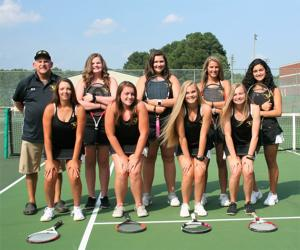 <p>After losing back-to-back matches earlier in the season, the Lady Eagles tennis team has won five games in a row - four by shutout.</p>