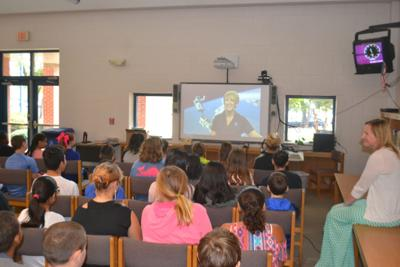 Hawfields Middle students interact with NASA experts