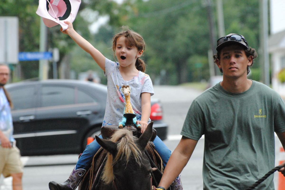 Pony riding cowgirl