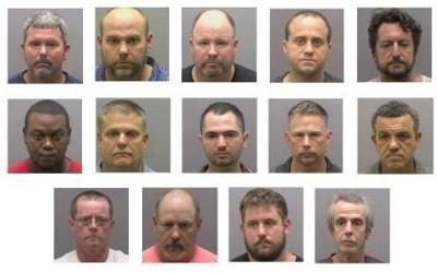 14 men arrested in prostitution operation