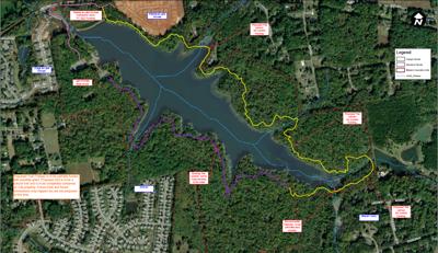 Lake Michael Park trail extension plans
