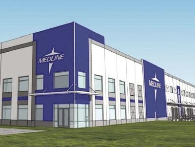 1.2 million square foot Medline facility making strong progress