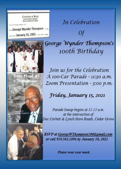 Local man celebrating 100th birthday hosting drive-thru celebration January 15