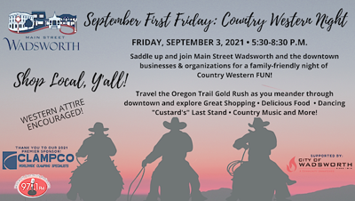 Sept. First Friday: Country Western Night!