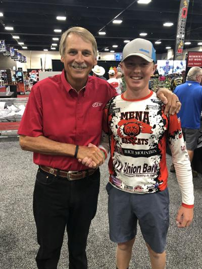 Rose meets Bass Fishing Legend Hank Parker at Forrest Wood Cup