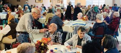 Area seniors enjoy Thanksgiving luncheon on Mena-Polk County Senior Center
